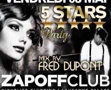 5 STARS at ZAPOFF Club